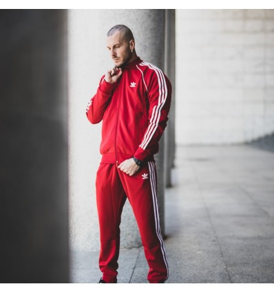 TRACK PANTS RED - ADIDAS