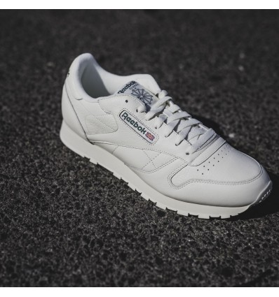 CLASSIC LEATHER PAPER WHITE/GREEN - REEBOK