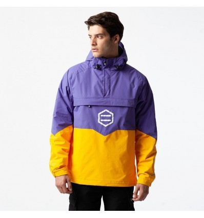 GIACCA ANORAK PURPLE & YELLOW - DOLLY NOIRE