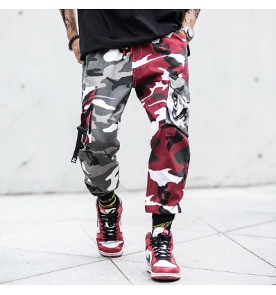 PANTALONI CAMO RED - NO PANIC