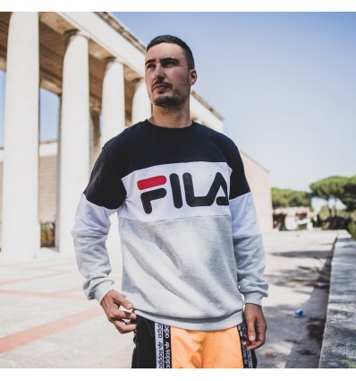 FELPA STRAIGHT BLOCKED GREY - FILA