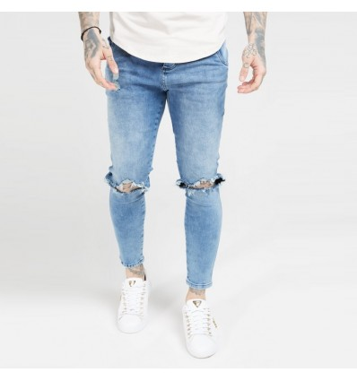 JEANS PALE RIPPED - SIK SILK