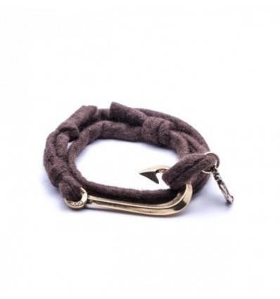 SEAMAN WOOL BROWN HOOK - DOUBLE U FRENK