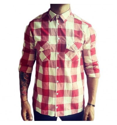 SHIRT RED SQUARE - BERNA