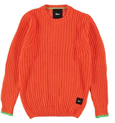 MAGLIONE ORANGE FLUO - SHOESHINE