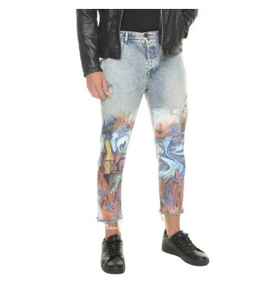 JEANS FANTASIA MURALES SCRATCHED - BL.11