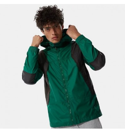 GIACCA MOUNTAIN WINDSHELL NERA & VERDE- THE NORTH FACE