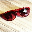 RED PORTABLE SUNGLASSES