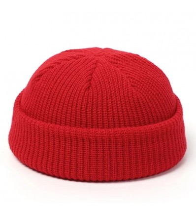 BEANIE RED FISHERMAN - NO PANIC