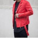 RED JACKET SUEDE - SIXTH JUNE