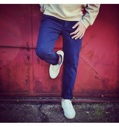 PANTALONE BLU NAVY - 0/CONSTRUCTION