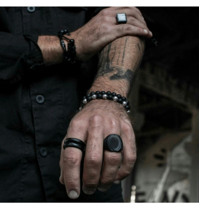 ANELLO TOTAL BLACK PIRATE -DOUBLE U FRENK