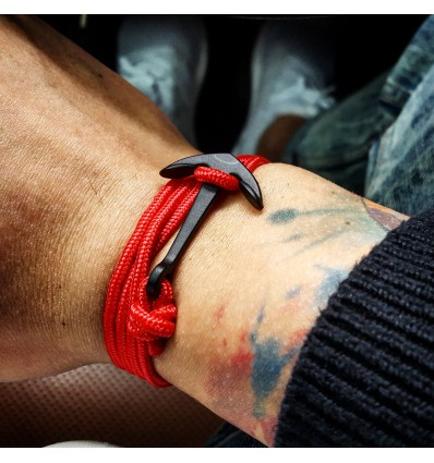 BRACCIALE RED ANCHOR - SUN HOLE