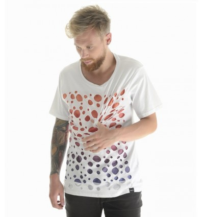 TSHIRT WHITE HOLE