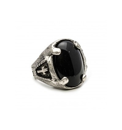 ANELLO LEGIONARY BLACK - DOUBLE U FRENK