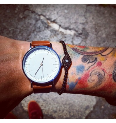 OROLOGIO BROWN LEATHER