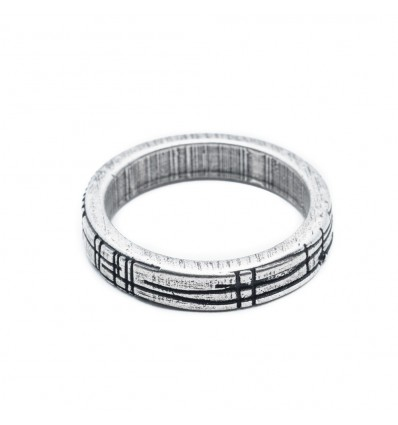 SHAPE CIRCLE RING - DOUBLE U FRENK