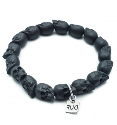 BRACCIALE BLACK SKULLS - DOUBLE U FRENK