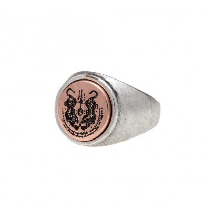 ANELLO SACRED PANTHER SILVER - DOUBLE U FRENK