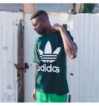 T-SHIRT BOXY GREEN - ADIDAS
