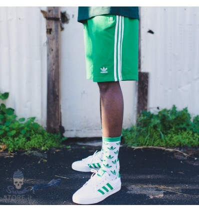 PANTALONCINI 3-STRIPES SHORT GREEN - ADIDAS