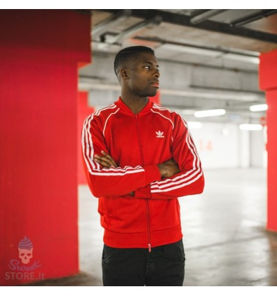 GIACCHETTO SST Track Jacket red - Adidas