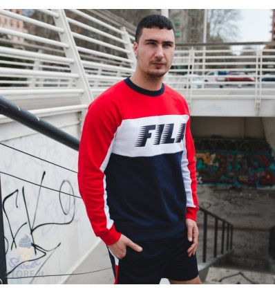 FELPA COLOUR BLOCK RED - FILA