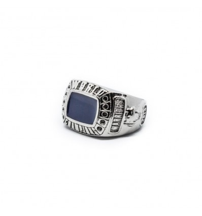 ANELLO WARRIOR BLUE - DOUBLE U FRENK