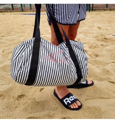 GYM BAG BLACK STRIPES - BERNA