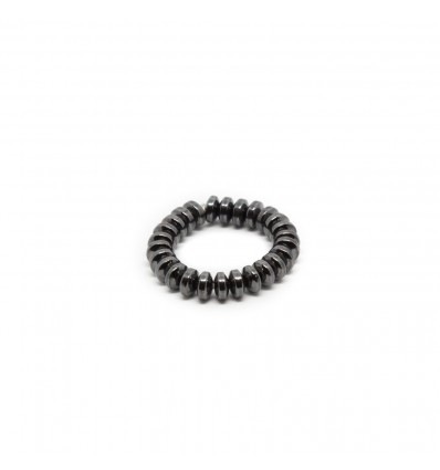 ANELLO HEMATITE BLACK - DOUBLE U FRENK