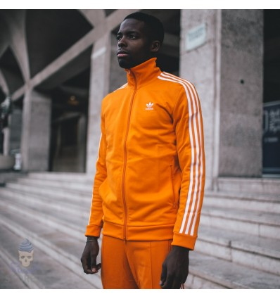 FELPA TRACK JACKET ORANGE - ADIDAS