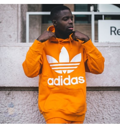 FELPA OVER HOODIE ORANGE - ADIDAS