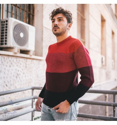 MAGLIONE SHADED RED - BERNA